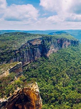 Montagnes bleues en Australie
